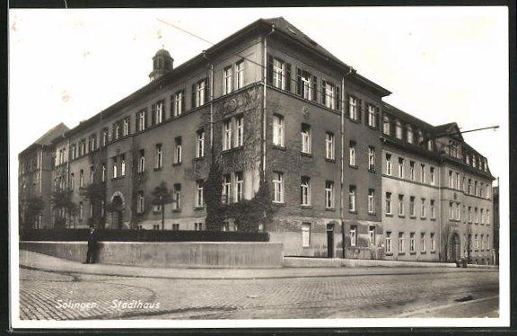 AK Solingen, Partie am Stadthaus