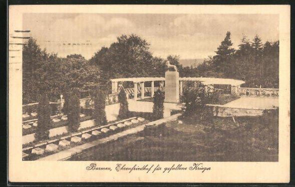 AK Barmen, Ehrenfriedhof für gefallene Krieger
