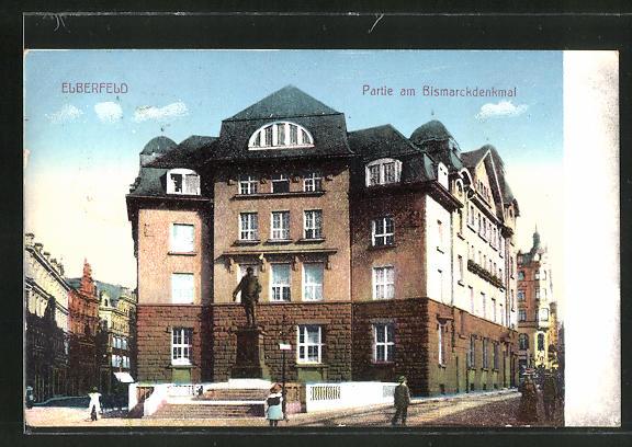 AK Elberfeld, Partie am Bismarckdenkmal