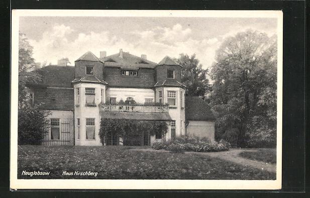 AK Neuglobsow, Haus Hirschberg vom Garten gesehen