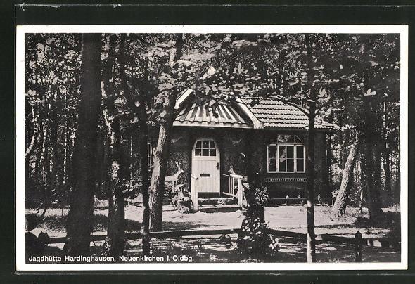 AK Neuenkirchen i. Oldbg., Blick auf die Jagdhütte Hardinghausen