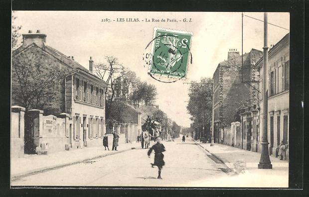 AK Les Lilas, La Rue de Paris