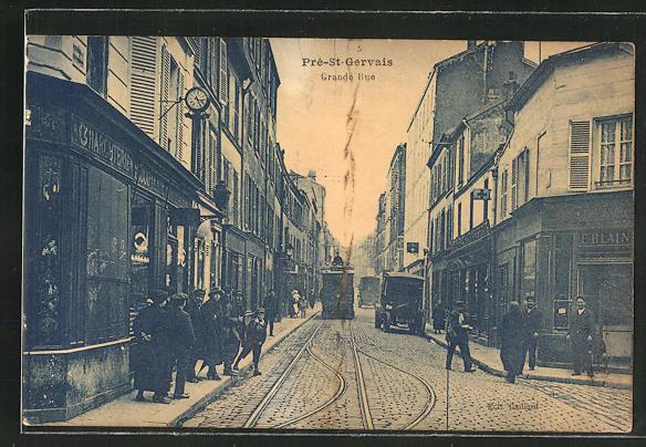 AK Pré-St-Gervais, Grande Rue, Strassenpartie