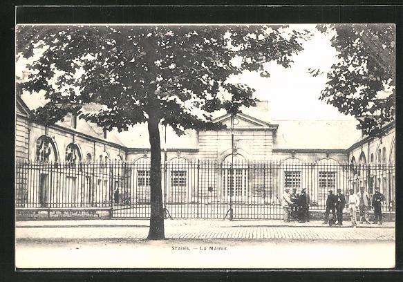 AK Stains, La Mairie, Ansicht vom Rathaus