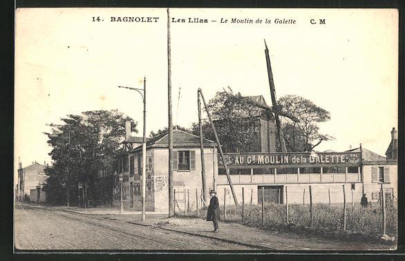 AK Bagnolet-Les Lilas, Le Moulin de la Galette