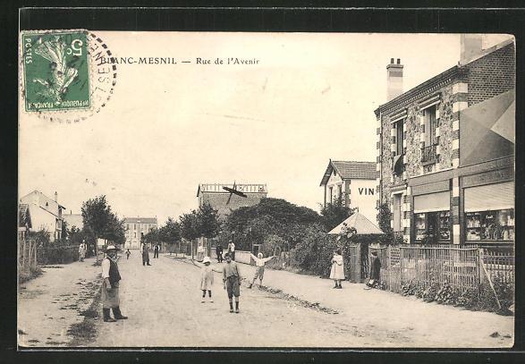 AK Blanc-Mesnil, Rue de l'Avenir, Einwohner auf der Strasse