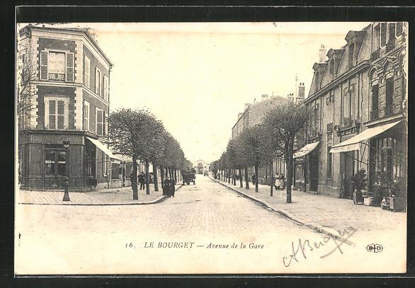 AK Le Bourget, Avenue de la Gare, Strassenbild