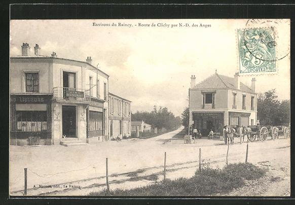 AK Raincy, Route de Clichy par Notre-Dame-des-Anges