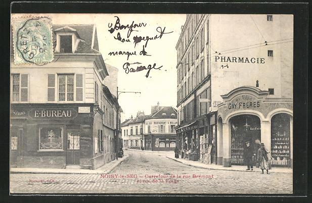 AK Noisy-le-Sec, Carrefour de la rue Bremont et rue de la Forge