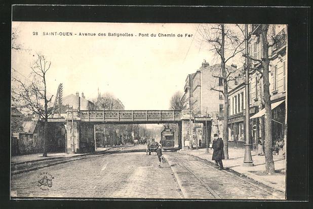 AK Saitn-Ouen, Avenue des Batignolles, Pont du Chemin de Fer