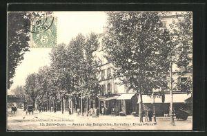 AK Saint-Ouen, Avenue des Batignolles, Carrefour Ernest-Renan