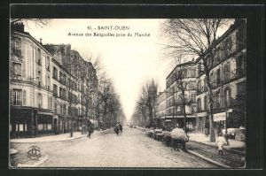 AK Saint-Ouen, Avenue des Batignolles prise du Marche