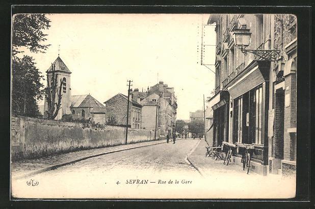 AK Sevran, Rue de la Gare, Strassenpartie