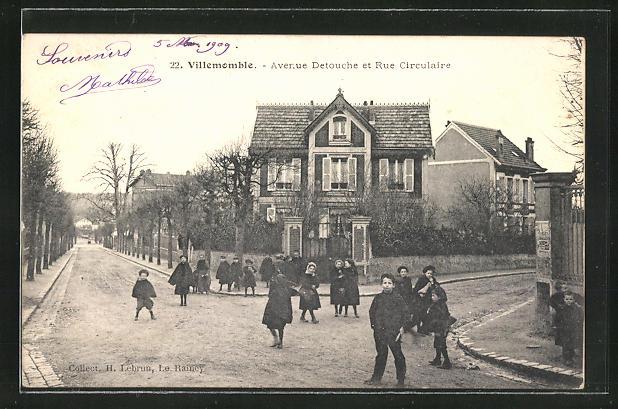 AK Villemomble, Avenue Detouche et Rue Circulaire