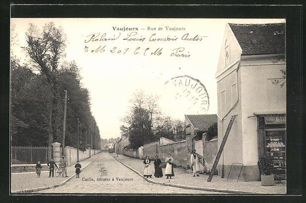 AK Vaujours, Rue de Vaujours, Strassenpartie
