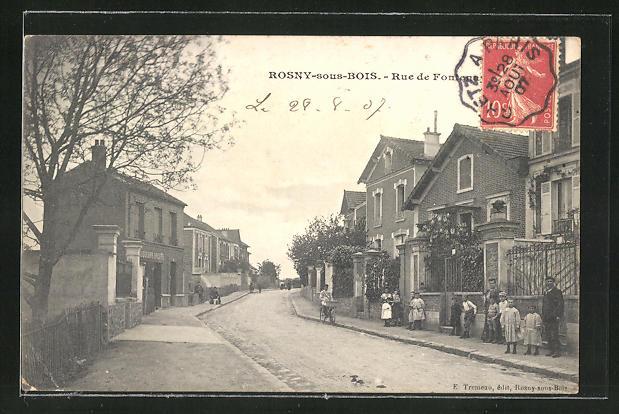 AK Rosny-sous-Bois, Rue de Fontenay, Strassenpartie