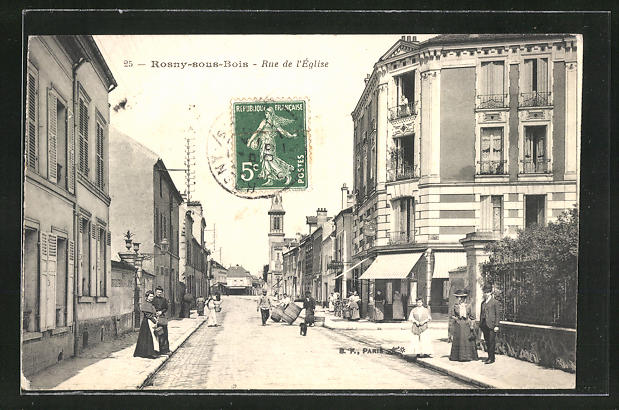 AK Rosny-sous-Bois, Rue de l'Eglise, Strassenpartie