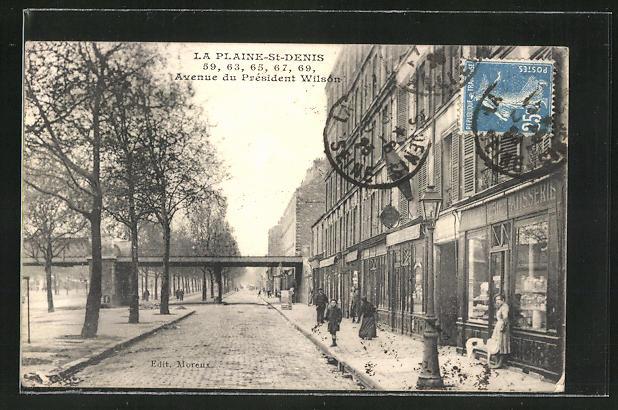 AK La Plaine-St-Denis, Avenue du President Wilson