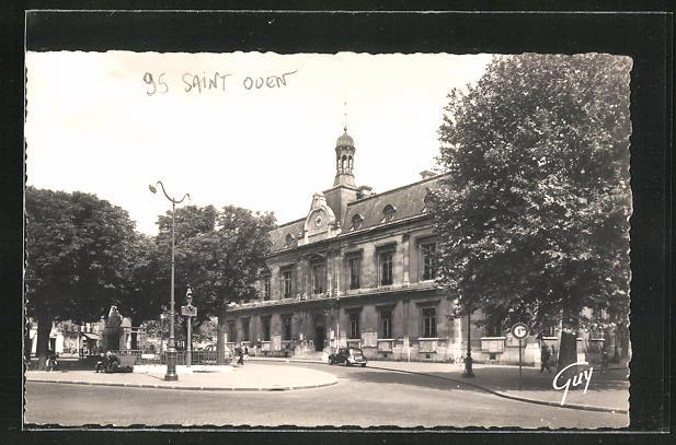 AK Saint-Ouen, La Mairie, place de la Republique, Partie am Rathaus
