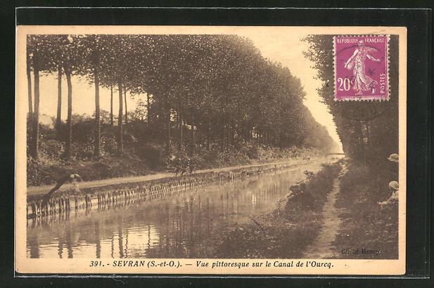 AK Sevran, Vue pittoresque sur le Canal de l'Ourcq