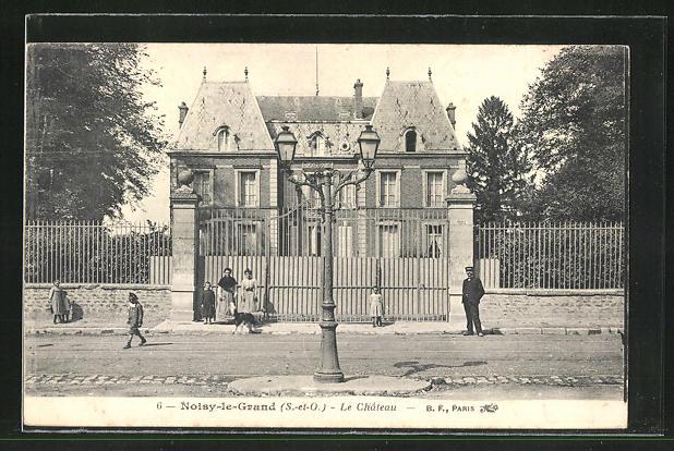 AK Noisy-le-Grand, Le Chateau, Sicht auf das Schloss