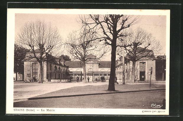 AK Stains, La Mairie, Sicht auf das Rathaus 0