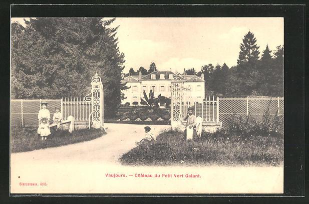 AK Vaujours, Chateau du Petit Vert Galant