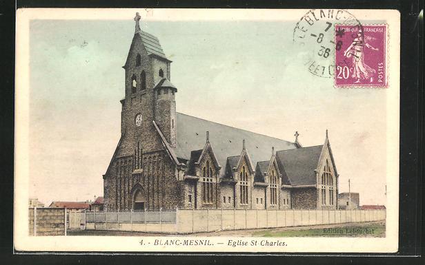 AK Blanc-Mesnil, Eglise Saint-Charles 0
