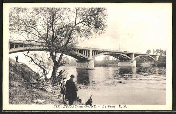AK Epinay-sur-Seine, Le Pont 0