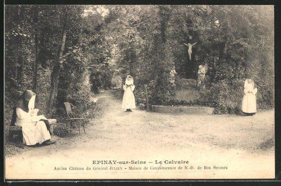 AK Epinay-sur-Seine, Le Calvaire, Ancien Chateau du General Julien, Maison de Convalescence de N.-D. de Bon Secours 0