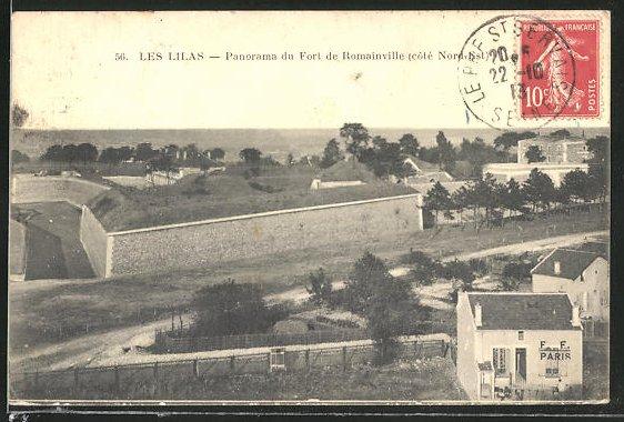 AK Les Lilas, Panoram du Fort de Romainville