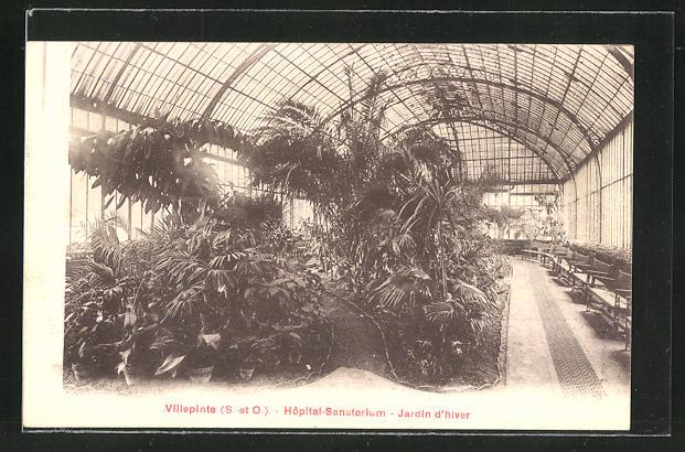AK Villepinte, Hopital-Sanatorium, Jardin d'hiver