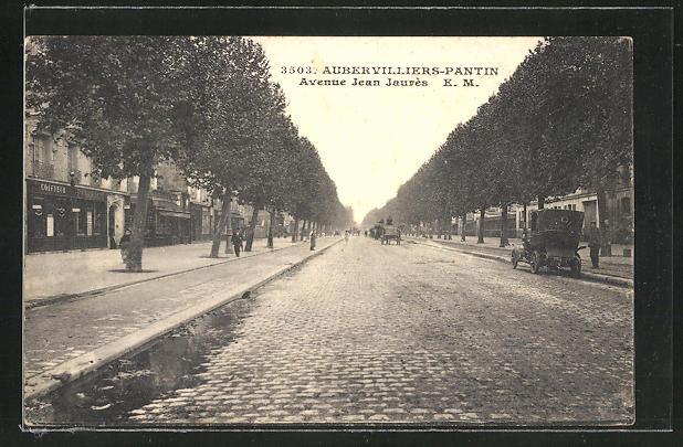 AK Aubervilliers-Pantin, Avenue Jean Jaures