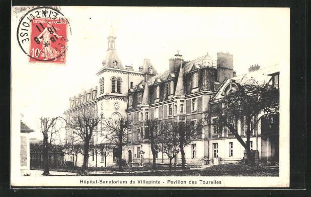 AK Villepinte, Hopital-Sanatorium, Pavillon des Tourelles