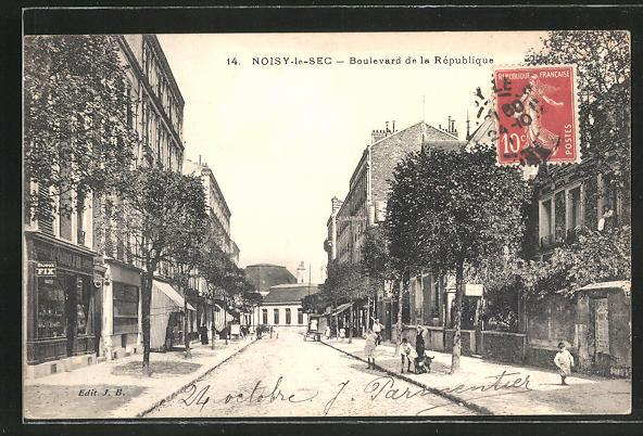 AK Noisy-le-Sec, Boulevard de la Republique