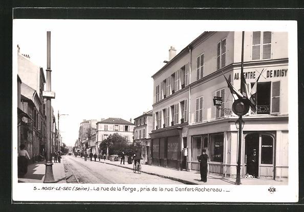 AK Noisy-le-Sec, La rue de la Forge, pris de la rue Denfert-Rochereau