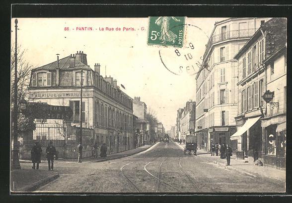 AK Pantin, La Rue de Paris 0