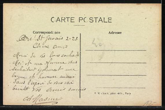 AK Le Pré-Saint-Gervais, Grande Rue et L'Institution 1