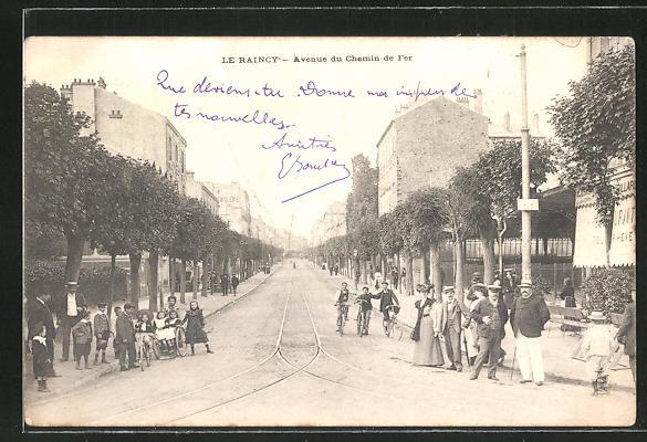 AK Le Raincy, Avenue du Chemin de Fer 0