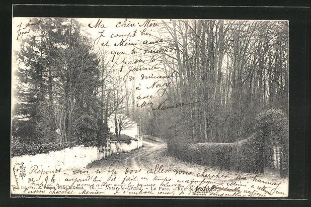 AK Noisy-le-Grand, Le Parc, Rue de la Grotte 0