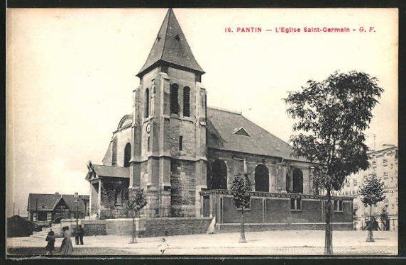 AK Pantin, L'Eglise Saint-Germain 0