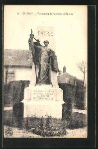 AK Epinay, Monument du Combat d'Epinay
