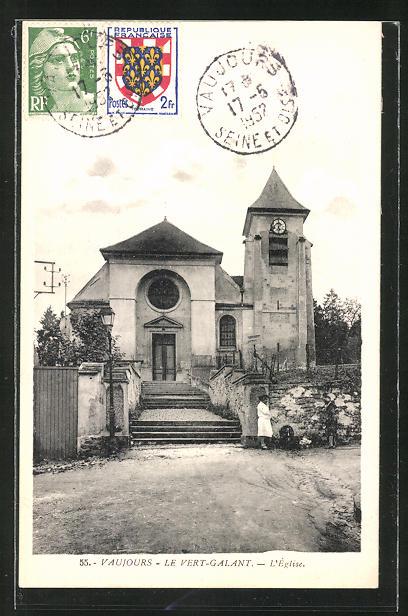 AK Le Vert-Galant, L'Eglise, Blick auf die Kirche