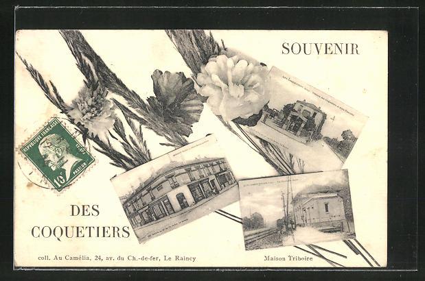 AK Bondy, Place de Coquetiers, Gebäudeansicht 0