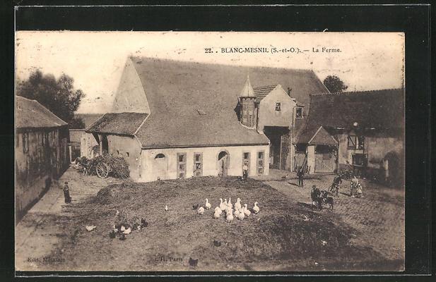AK Blanc-Mesnil, La Ferme, Sicht auf einen Bauernhof 0