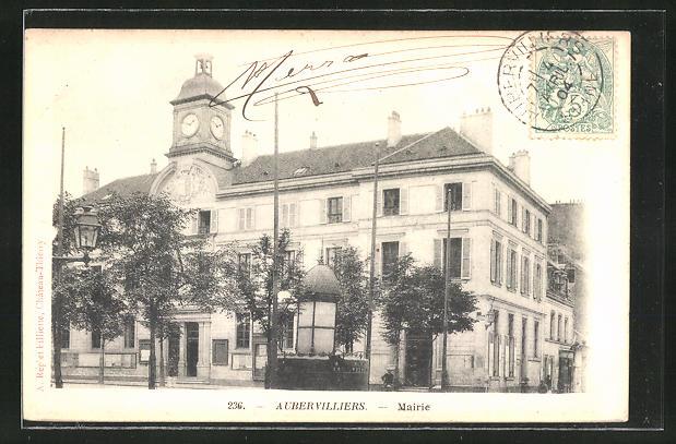 AK Aubervilliers, Mairie, Sicht auf das Rathaus
