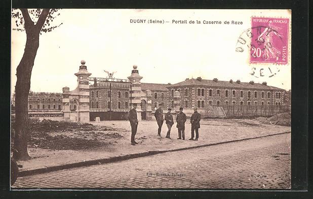 AK Dugny / Seine, Portail de la Caserne de Roze