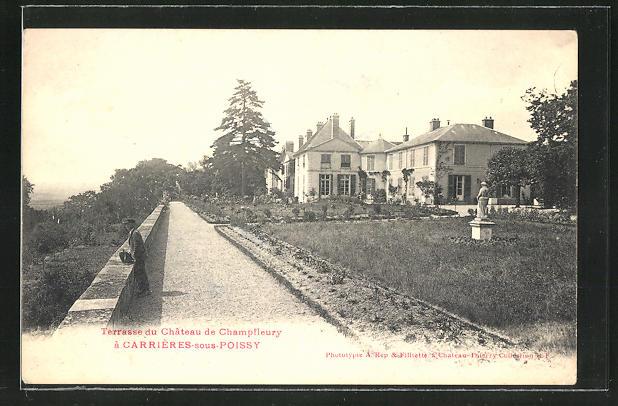 AK Carrieres-sous-Piossy, Terrasse du Chateau de Champfleury