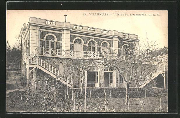 AK Villennes, Villa de M. Decourcelle 0