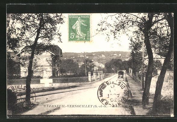 AK Verneuil-Vernouillet, Avenue de la Gare 0